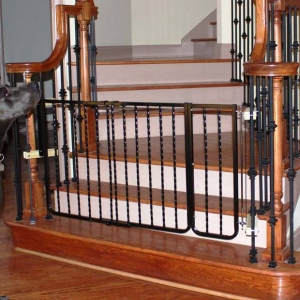 "Cardinal Gates Wrought Iron Decor Hardware Mounted Pet Gate Extension Black 10.5"" x 29.5"""