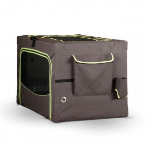 """K&H Pet Products Classy Go Soft Pet Crate Extra Large Brown/Lime Green 41.73"""" x 27.95"""" x 26.97"""""""