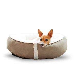 "K&H Pet Products Sleepy Nest Pet Bed Small Caramel 18"" x 18"""
