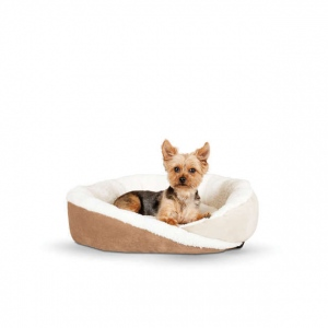 "K&H Pet Products Huggy Nest Pet Bed Small Tan / Caramel 22"" x 19"" x 6"""