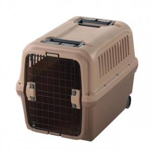 "Richell Mobile Pet Carrier Tan / Brown 26.2"" x 18.3"" x 20.1"""