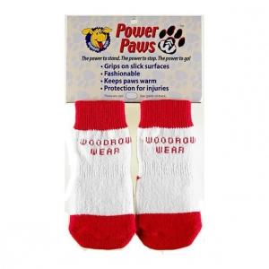 "Woodrow Wear Power Paws Advanced Medium Red / White Strip 2.0"" - 2.38"" x 2.0"" - 2.38"""
