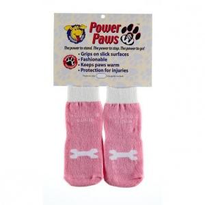 "Woodrow Wear Power Paws Advanced Extra Extra Small Pink / White Bone 1.25"" - 1.38"" x 1.25"" - 1.38"""