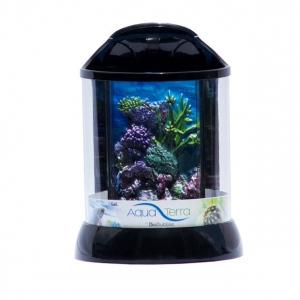 "BioBubble Aqua Terra 3D Coral Background 1 Gallon Black 7.5"" x 7.5"" x 10"""