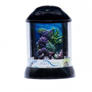 "BioBubble Aqua Terra 3D Coral Background 2 Gallon Black 9"" x 9"" x 12"""