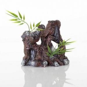 """BioBubble Decorative The Old Stump 4.25"""" x 3"""" x 4.25"""""""