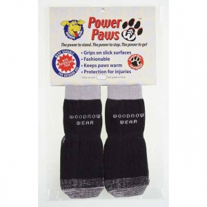 """Woodrow Wear Power Paws Reinforced Foot Extra Large Black/Gray 2.75"""" - 3.125"""" x 2.75"""" - 3.125"""""""