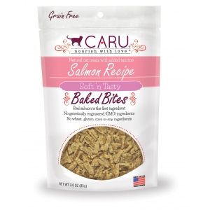CARU Natural Salmon Recipe Soft 'N Tasty Bites for Cats: 3.0 oz (85 G)