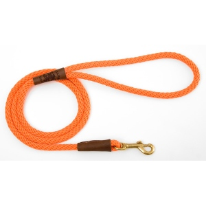 "Mendota Small Snap Leash: Orange, 3/8"" x 4'"