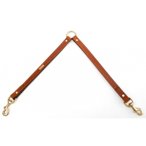 "Mendota Two Dog Coupler: Chestnut, 25"" x 3/4"""