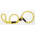 "Mendota British Style Slip Lead Rope: Leash and Collar in One, Hi-Viz Yellow, 1/2"" X 4'"