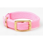 "Mendota Double Braid Collar: Hot Pink, 1""W Up to 18"""