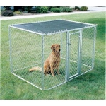 Midwest Homes for Pets Chain Link Portable Kennel: Includes a Sunscreen, 6' x 4' x 4'