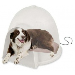 "K&H Pet Products Lectro-Soft Igloo Style Bed: Large, 17.5"" x 30"" x 1.5"", 60 Watts"