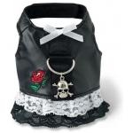 Doggles Harness Dress: Small Biker, Black