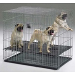 "Midwest Homes for Pets Puppy Playpen with Plastic Pan and 1/2"" Floor Grid: 24"" x 36"" x 30"""
