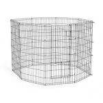 "Midwest Life Stages Pet Exercise Pen with Split Door  Black 24"" x 42"""