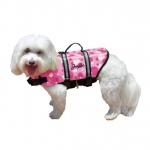 Pawz Pet Products Nylon Dog Life Jacket Large Pink Bubbles