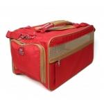 Bark N Bag Nylon Classic Carrier Collection: Medium, Red/Tan